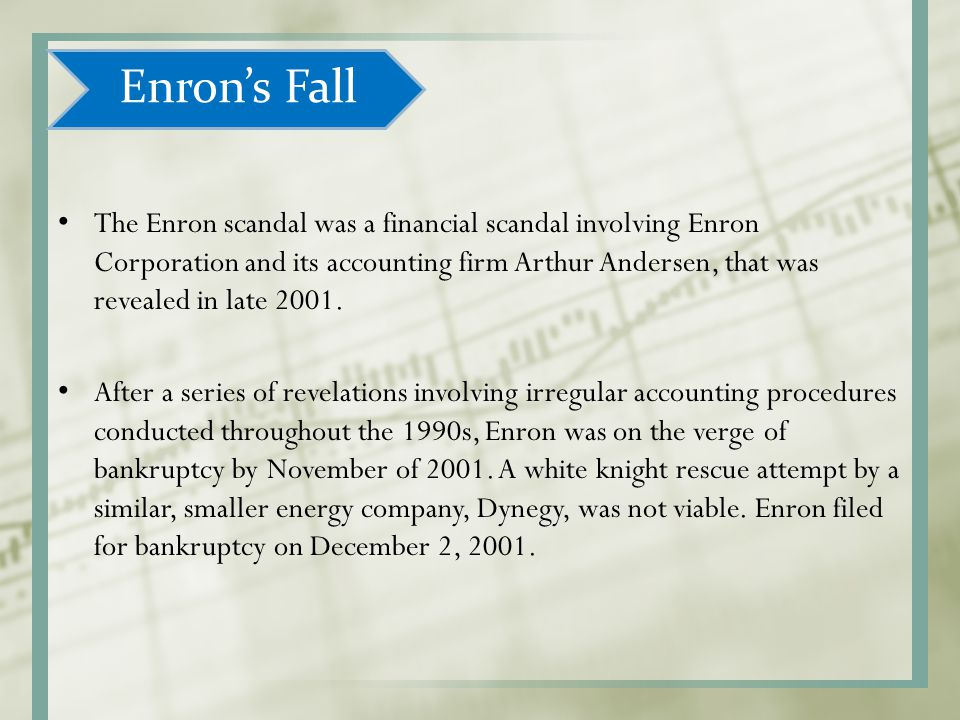 Enron's Fall