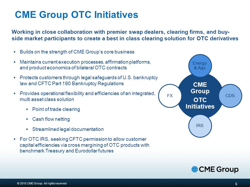 CME Group OTC Initiatives