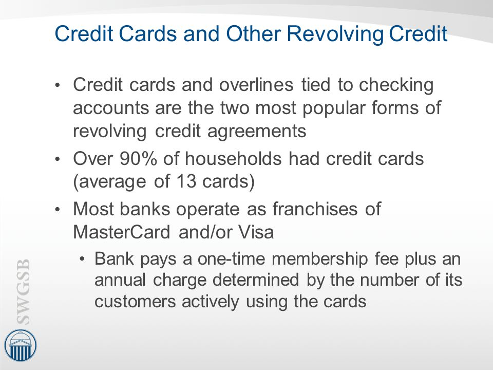 Credit Cards and Other Revolving Credit