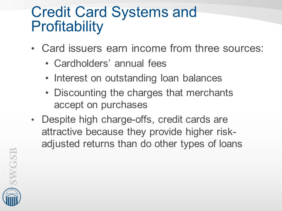 Credit Card Systems and Profitability