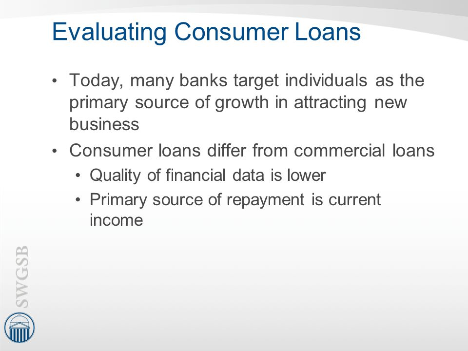 Evaluating Consumer Loans