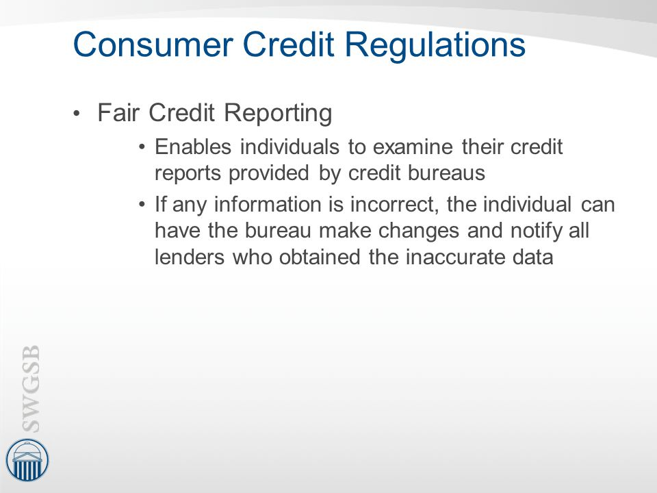Consumer Credit Regulations