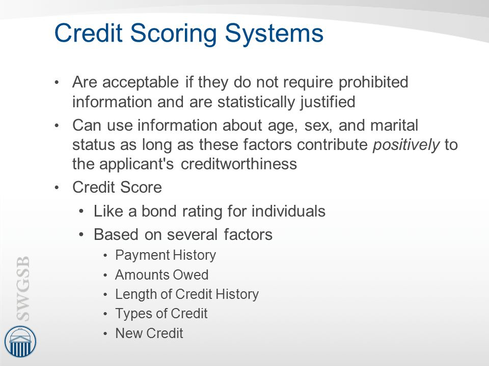 Credit Scoring Systems