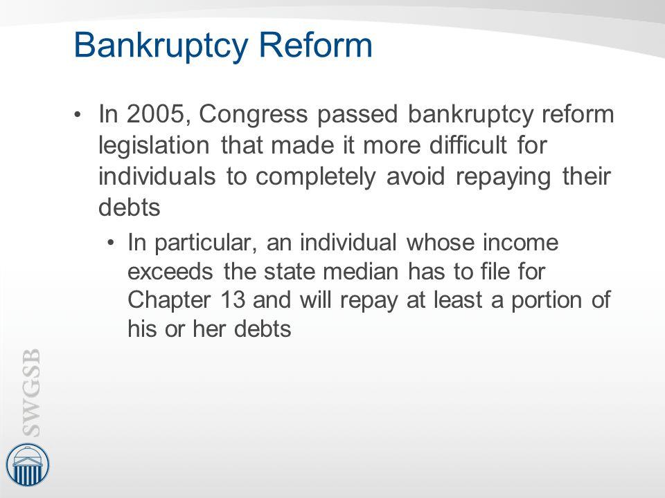 Bankruptcy Reform