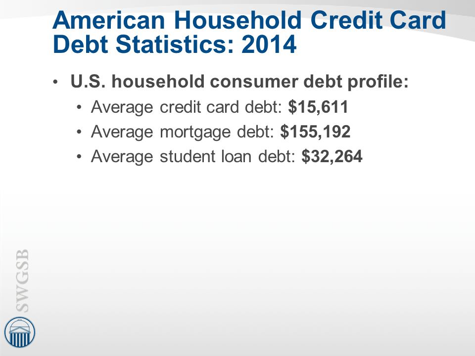 American Household Credit Card Debt Statistics: 2014