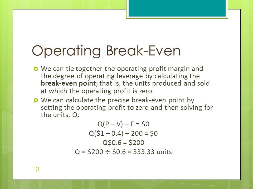 Operating Break-Even