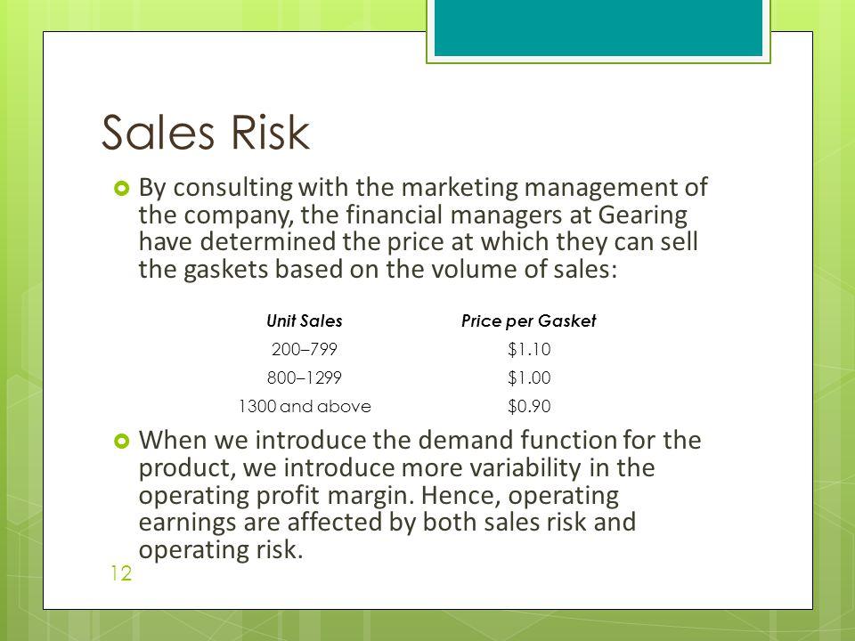 Sales Risk