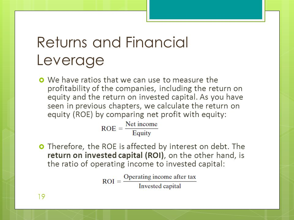 Returns and Financial Leverage