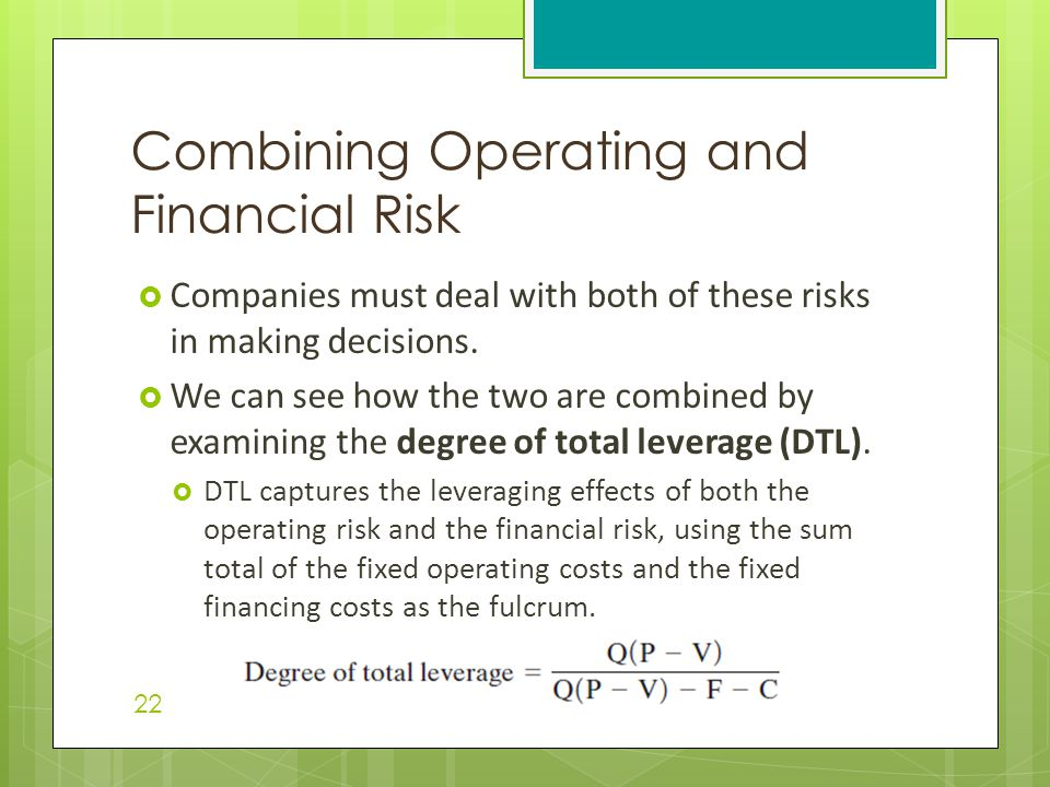 Combining Operating and Financial Risk