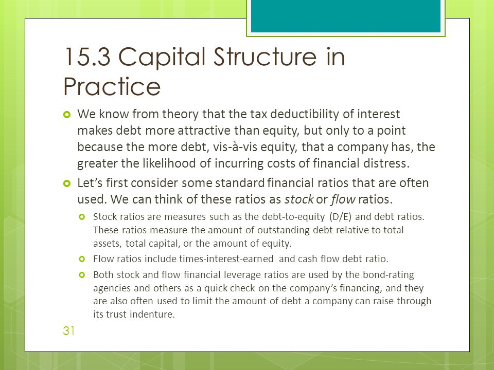 15.3 Capital Structure in Practice
