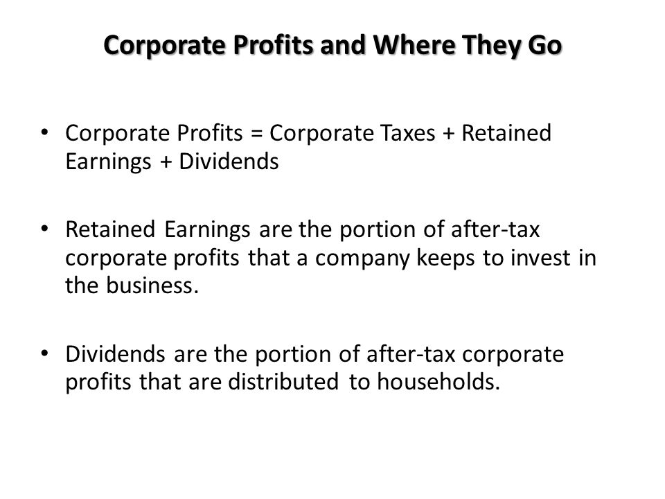 Corporate Profits and Where They Go