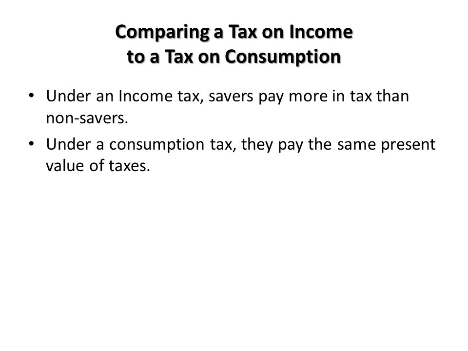 Comparing a Tax on Income to a Tax on Consumption