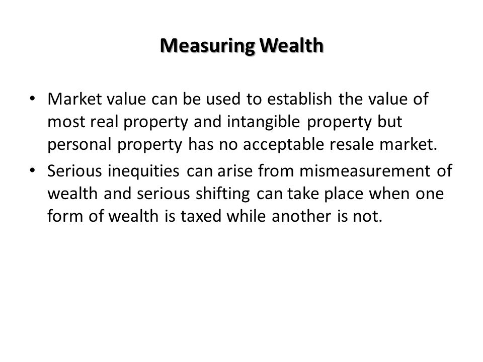 Measuring Wealth