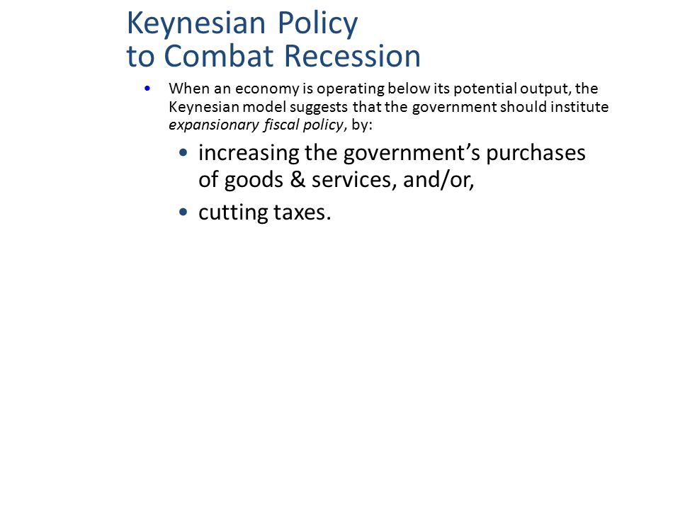 Keynesian Policy to Combat Recession