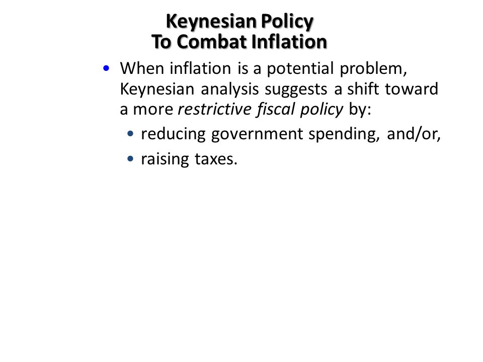 Keynesian Policy To Combat Inflation