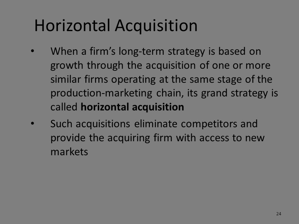 Horizontal Acquisition