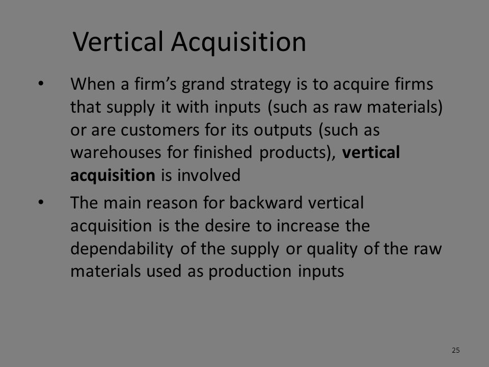 Vertical Acquisition