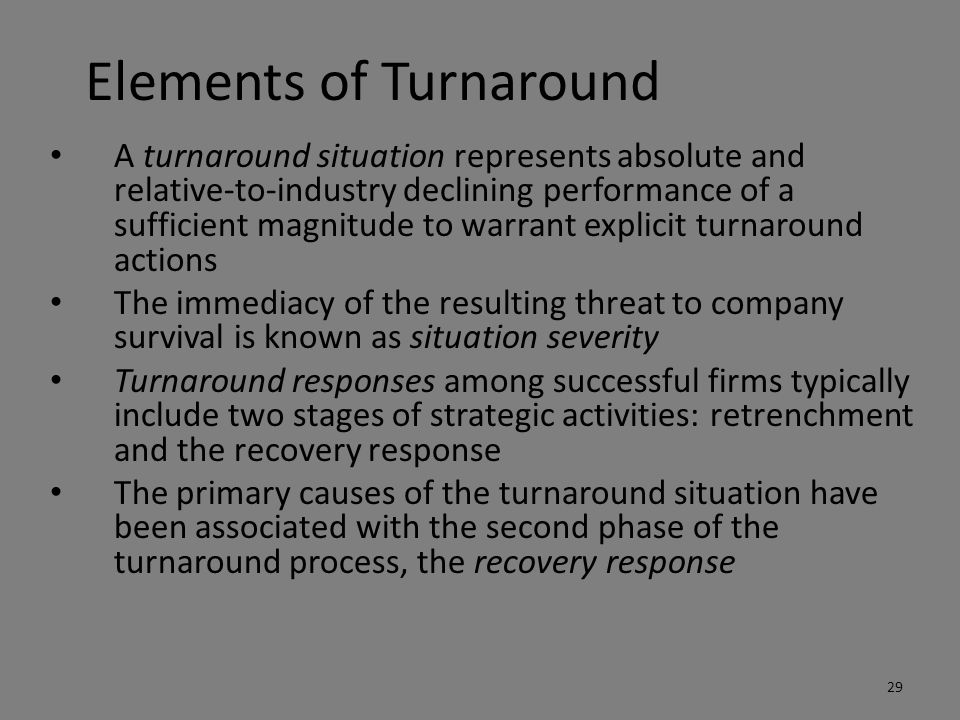 Elements of Turnaround