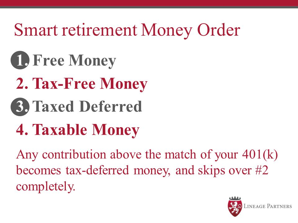 Smart retirement Money Order