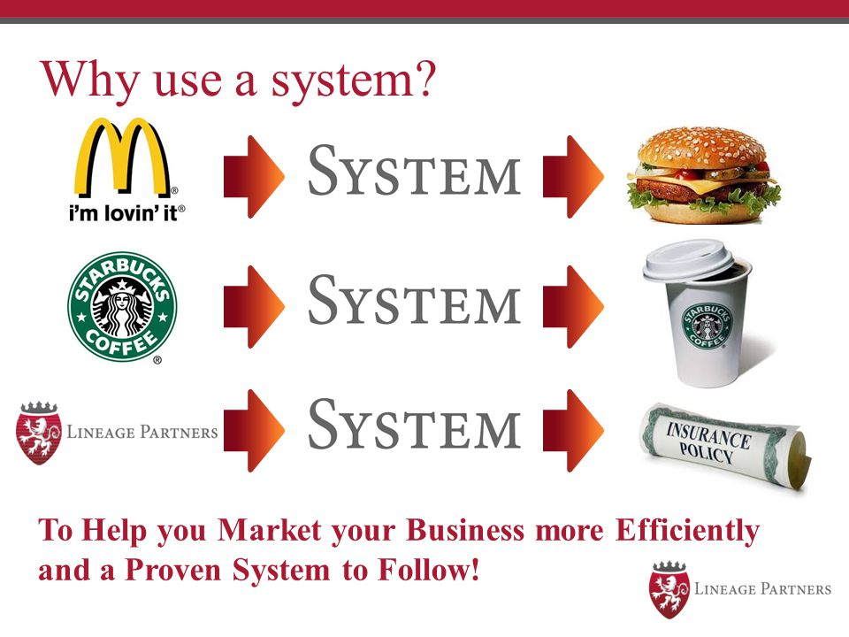 Why use a system To Help you Market your Business more Efficiently and a Proven System to Follow!