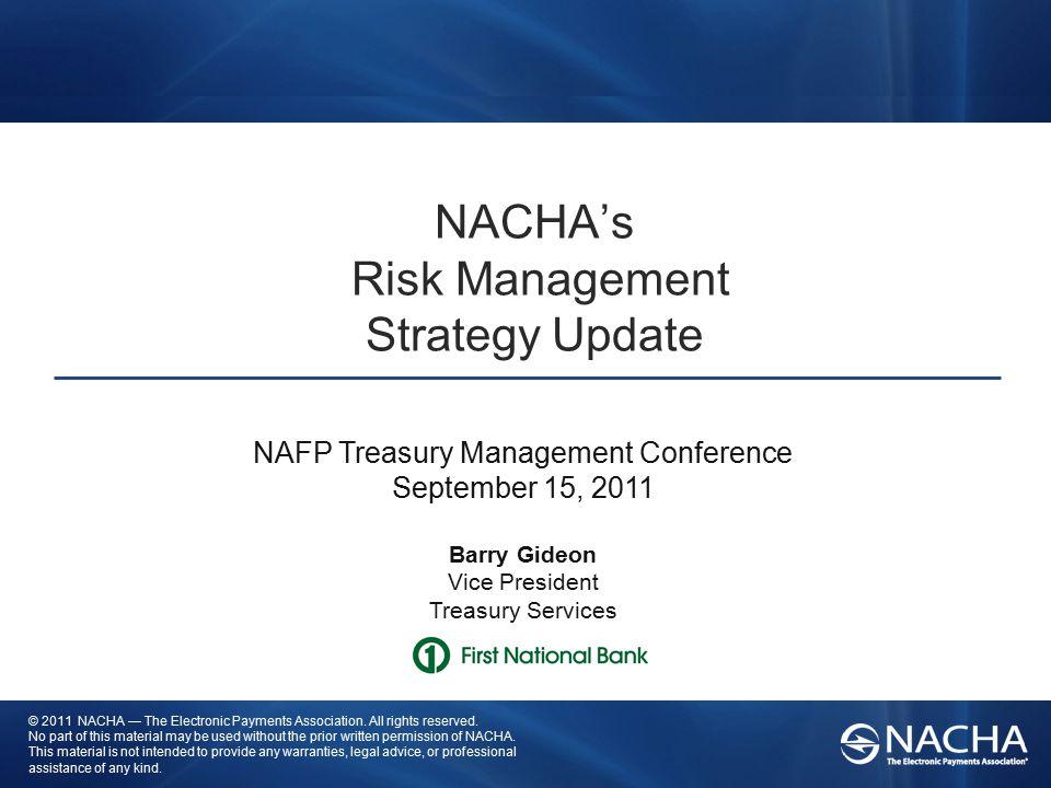 NACHA's Risk Management Strategy Update