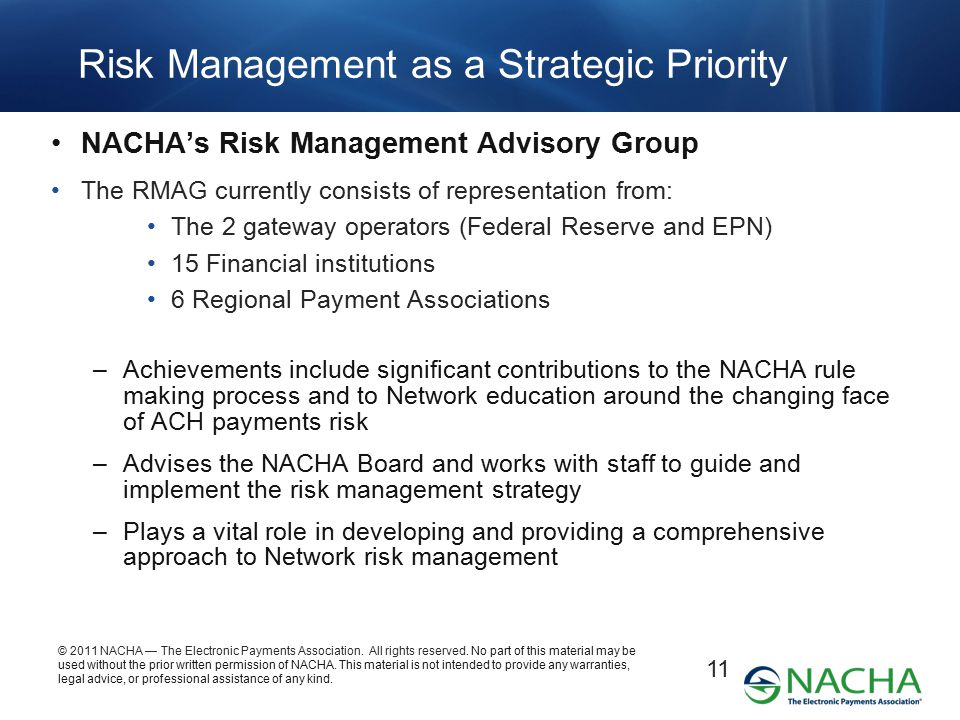Risk Management as a Strategic Priority