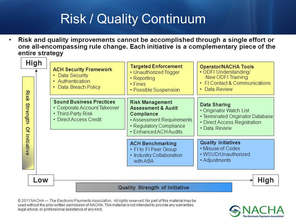 Risk / Quality Continuum