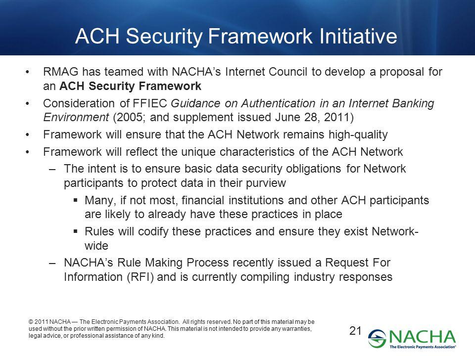 ACH Security Framework Initiative