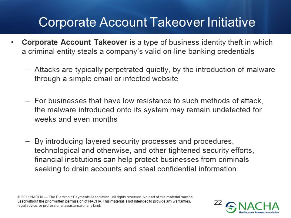 Corporate Account Takeover Initiative