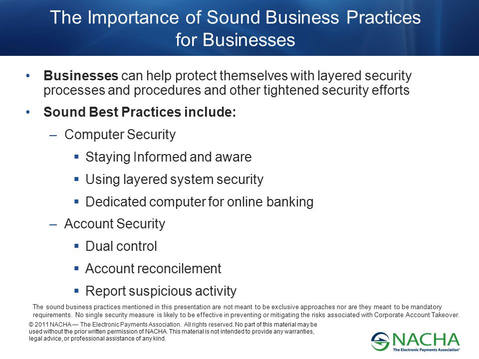 The Importance of Sound Business Practices for Businesses