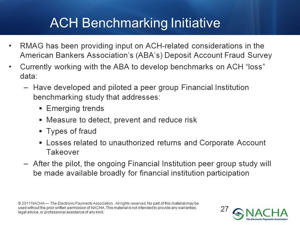 ACH Benchmarking Initiative