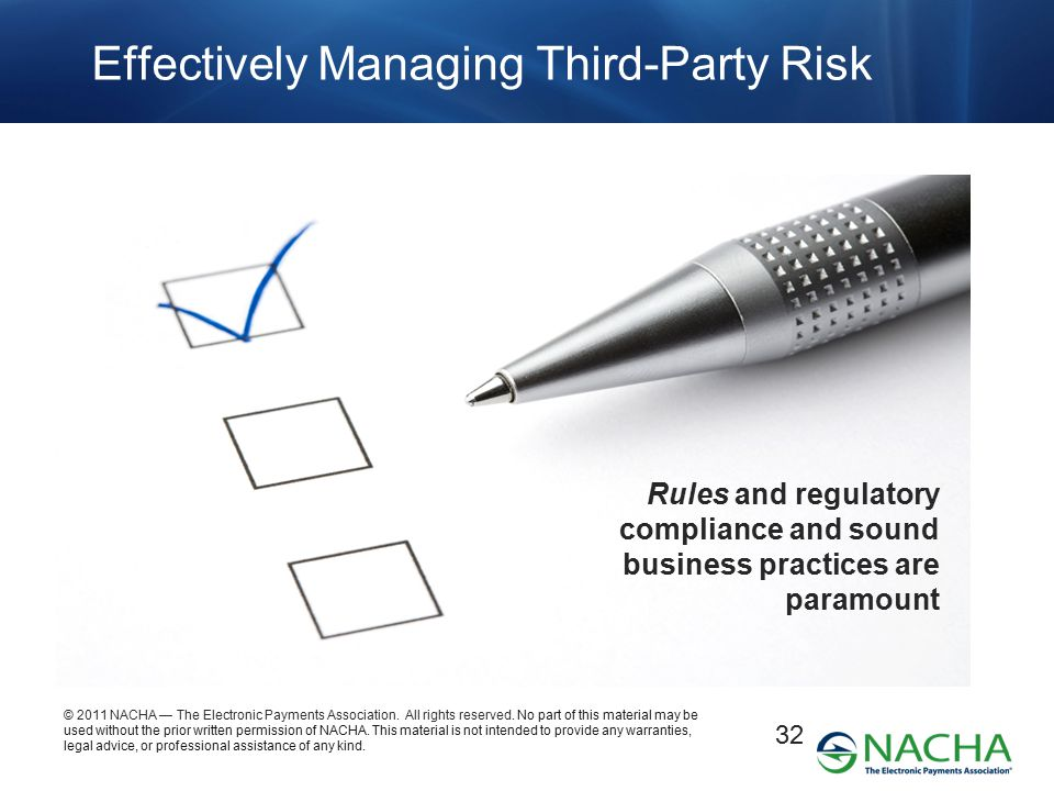 Effectively Managing Third-Party Risk