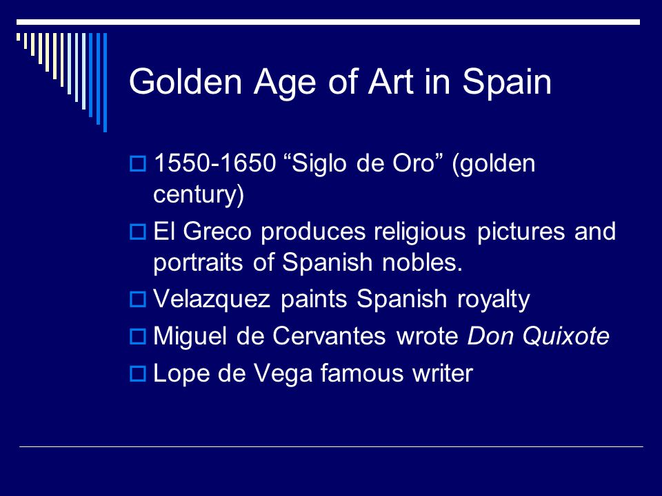 Golden Age of Art in Spain