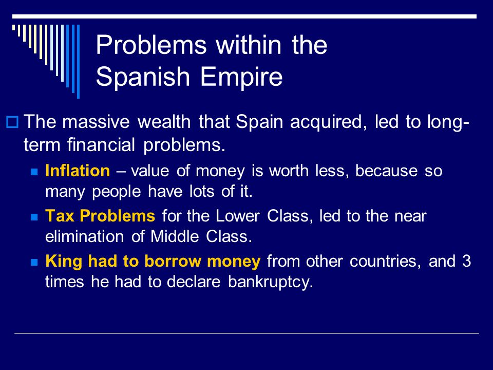Problems within the Spanish Empire
