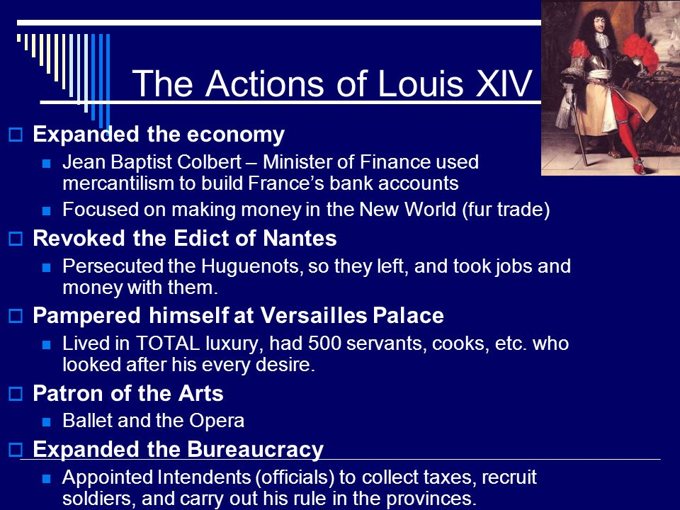 The Actions of Louis XIV