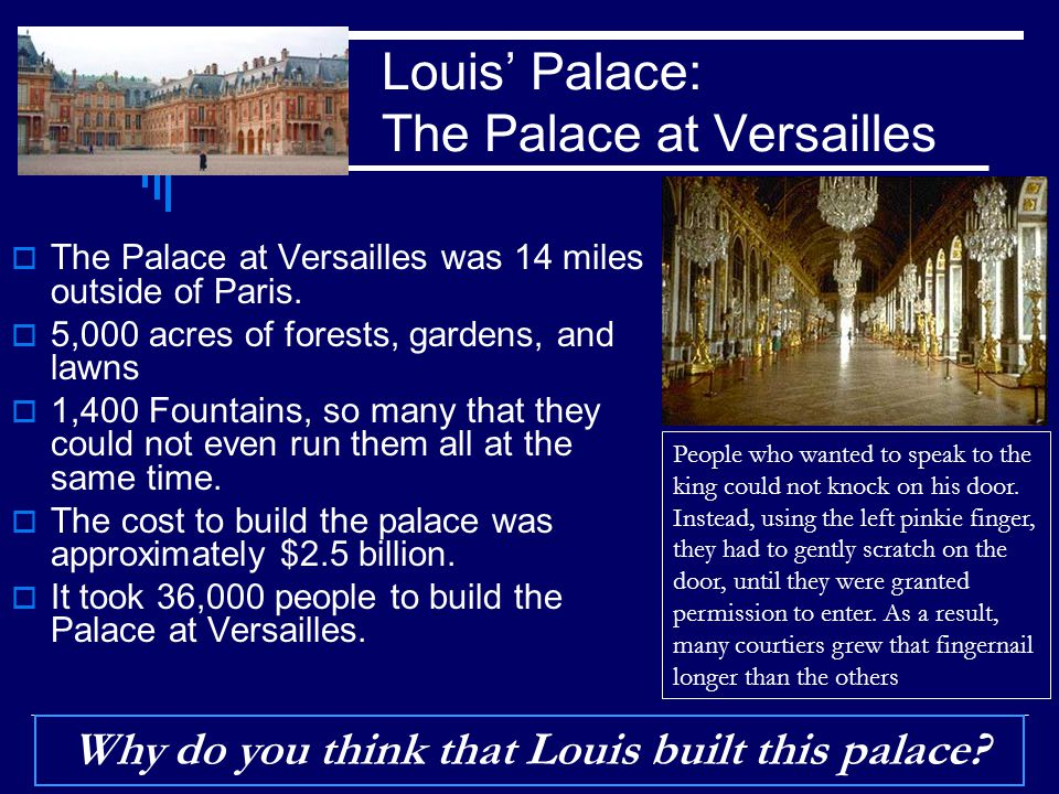 Louis' Palace: The Palace at Versailles