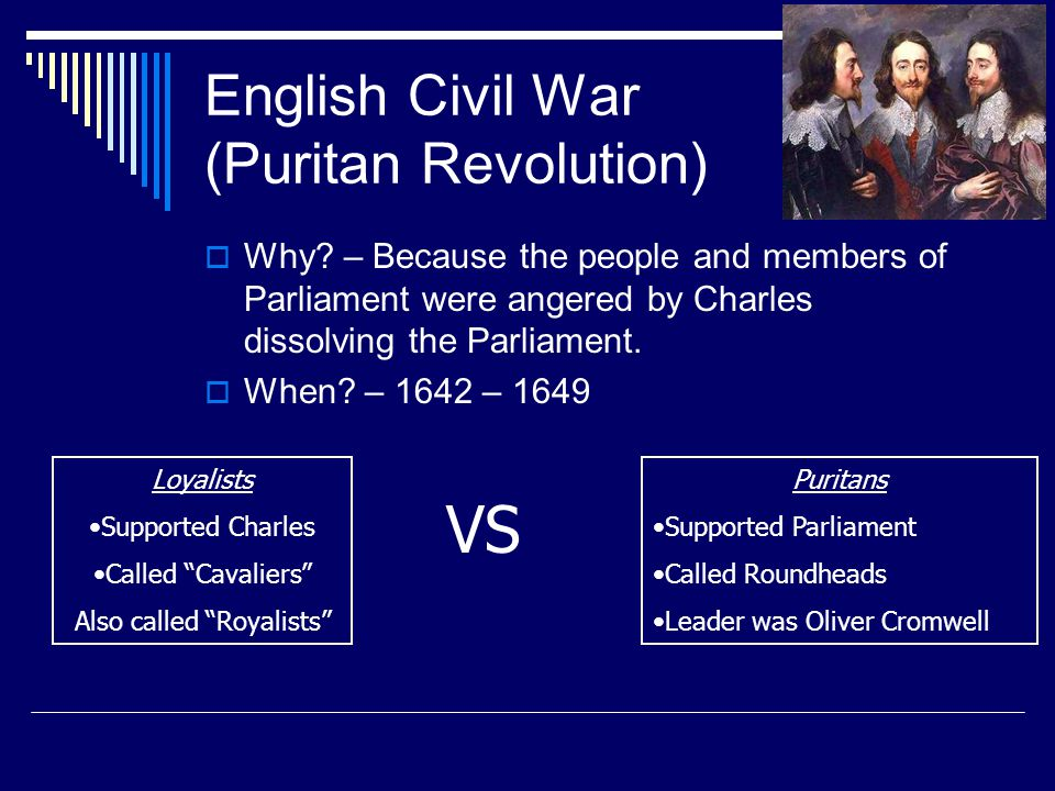 English Civil War (Puritan Revolution)