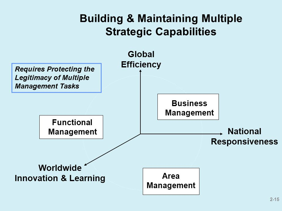 Building & Maintaining Multiple Strategic Capabilities
