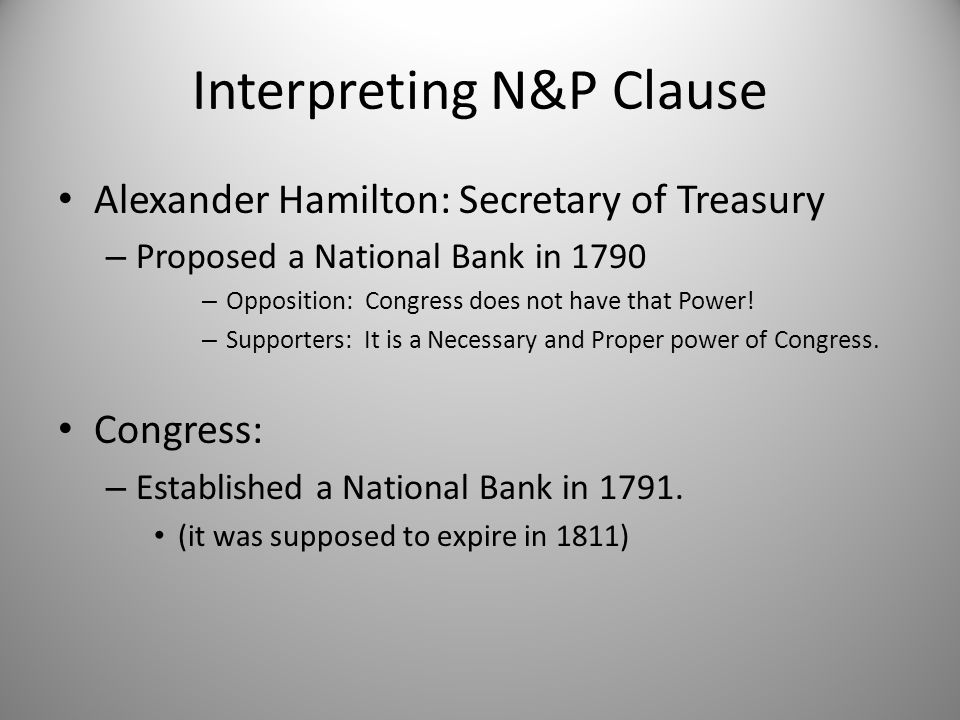 Interpreting N&P Clause