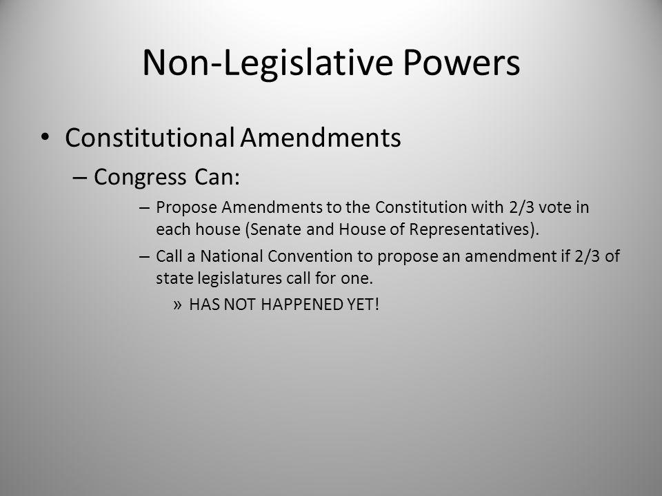 Non-Legislative Powers