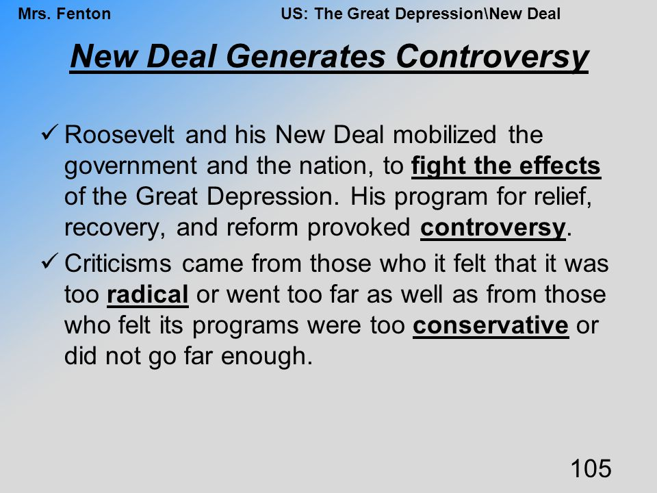 New Deal Generates Controversy