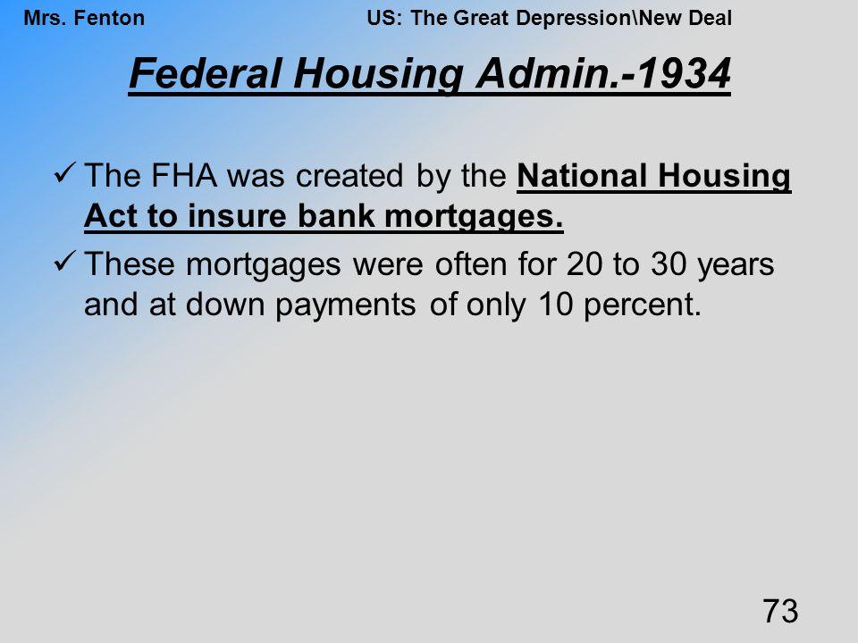 Federal Housing Admin.-1934