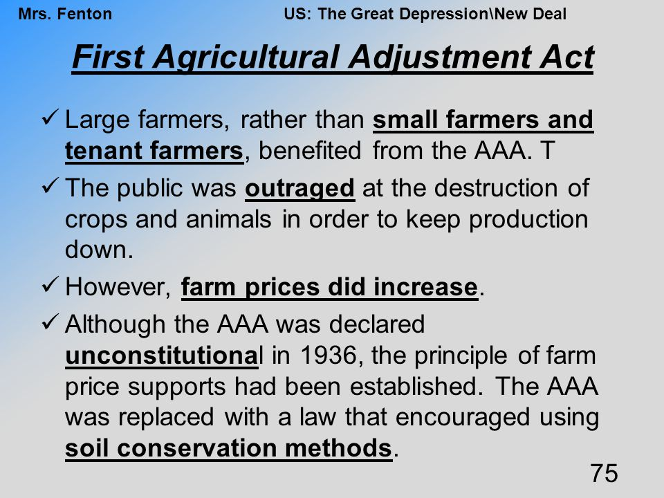 First Agricultural Adjustment Act