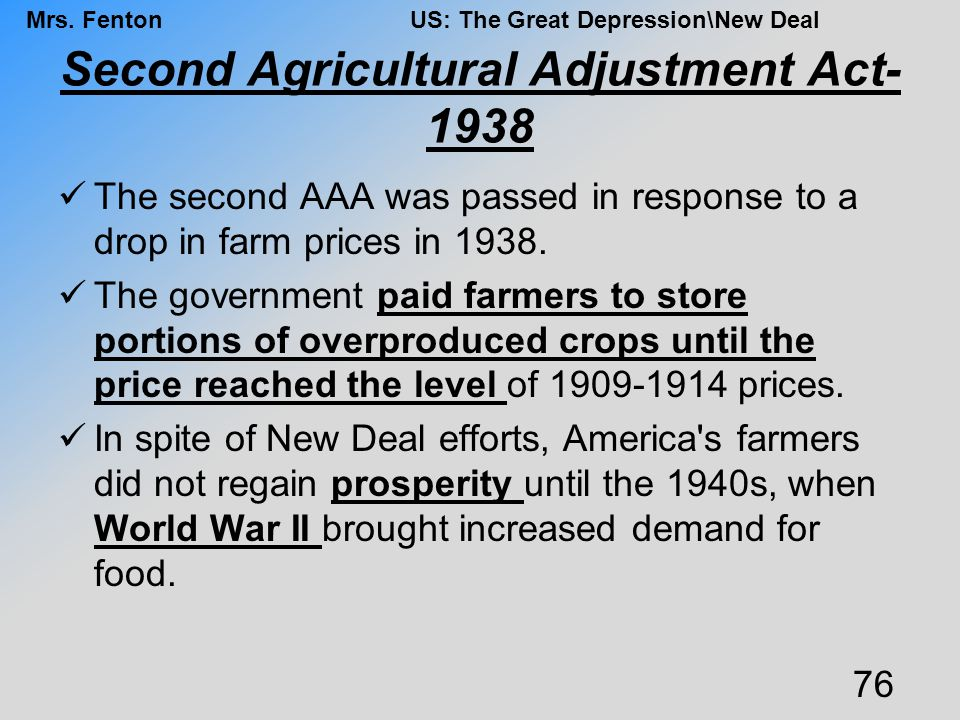 Second Agricultural Adjustment Act-1938