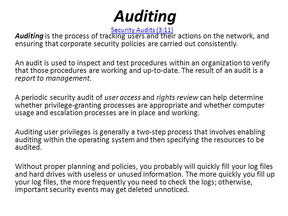 Auditing Security Audits (3:11)