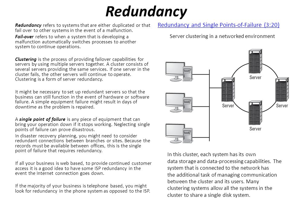 Redundancy Redundancy and Single Points-of-Failure (3:20)