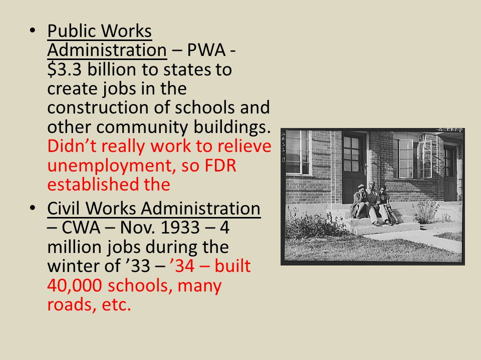 Public Works Administration – PWA - $3