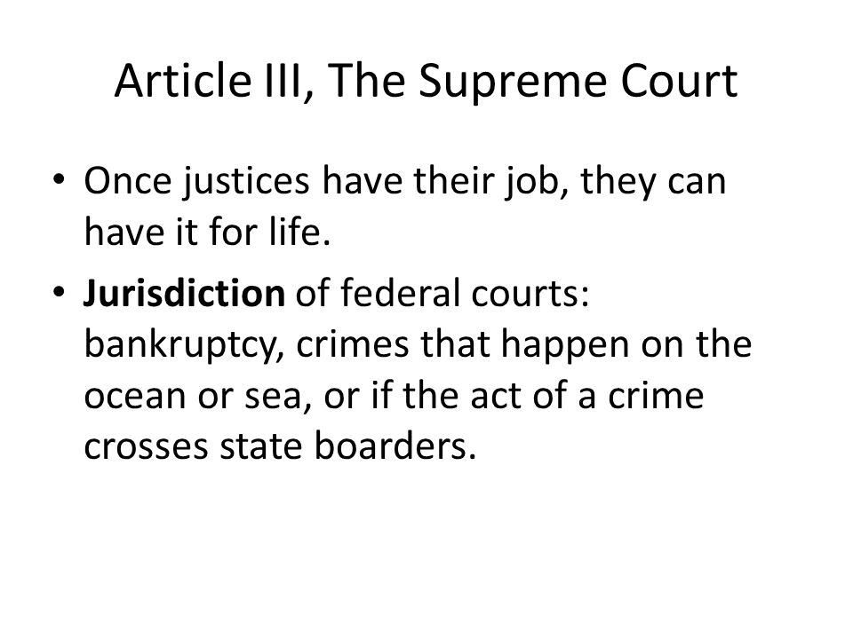 Article III, The Supreme Court