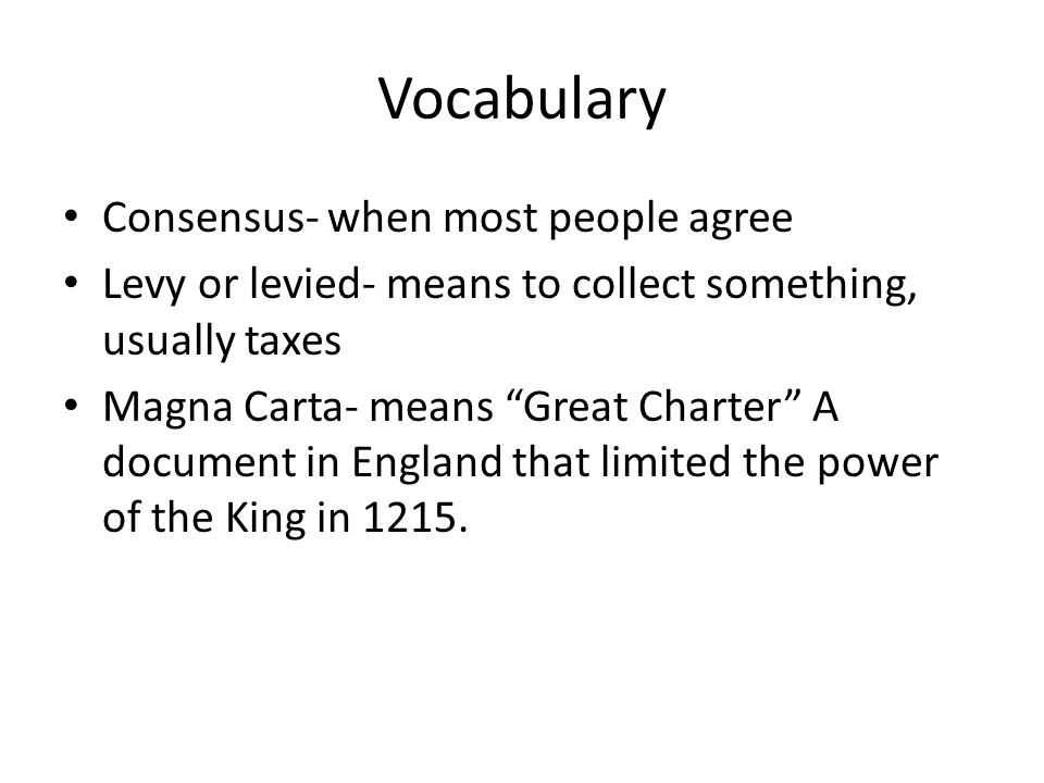 Vocabulary Consensus- when most people agree