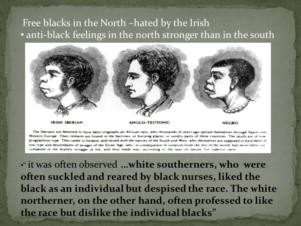 anti-black feelings in the north stronger than in the south